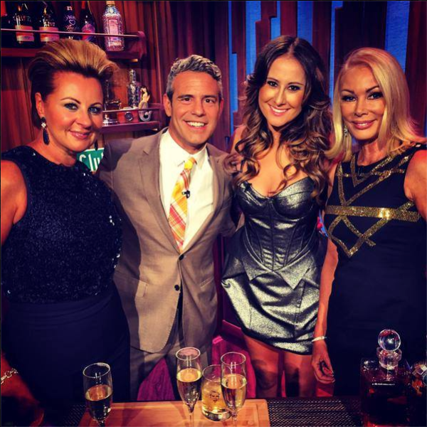 Ms. Keebaugh, Ms. Gillies and Ms. Roach appeared on Watch What Happens Live on their recent trip to NYC. (Photo: Facebook/The Real Housewives of Melbourne)