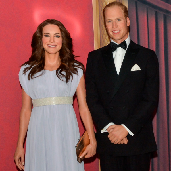 Creepy, waxy Will and Kate. (Photo: Getty)