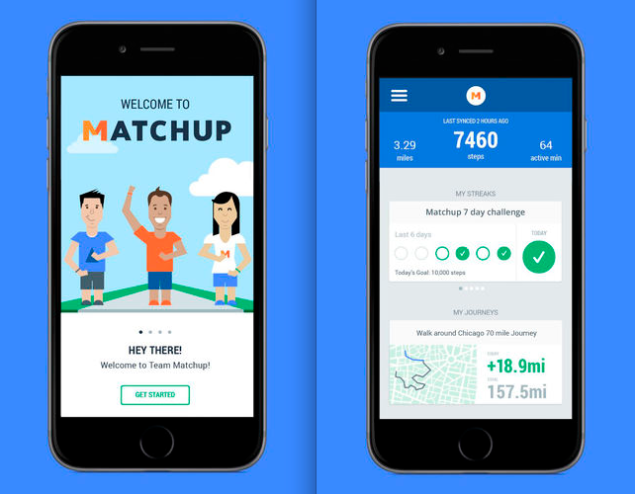 Matchup's app launched Wednesday. (Photo: iTunes)