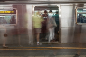 Subway ridership is at its highest levels since the 1940s. (Photos by Arman Dzidzovic/New York Observer.)