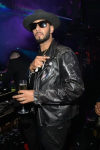 Swizz Beats in Las Vegas, May 2, 2015, D'USSE presents Fight Weekend at Marquee Las Vegas hosted by JAY Z. (Photo by Al Powers/Invision/AP)