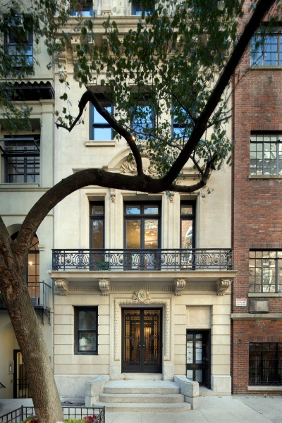 The Arthur Sachs Mansion at 58 E. 66th Street. Naturally it comes with a wrought iron planting terrace.