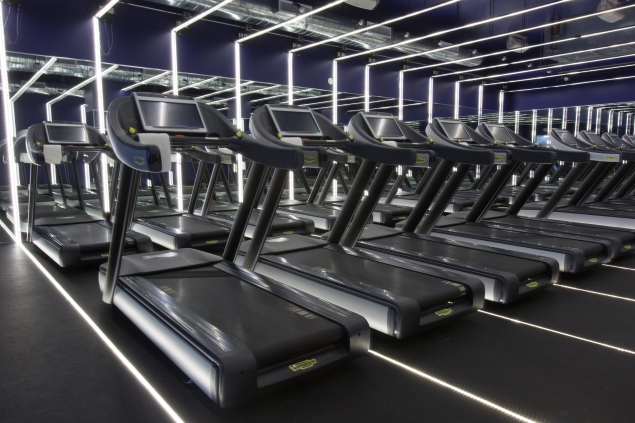 The futuristic-looking treadmill studio. (Photo: TheRUN)