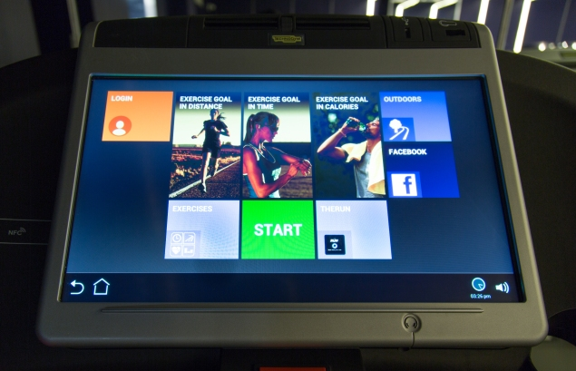 Each treadmill is equipped with a screen that looks like this. (Photo: TheRUN)
