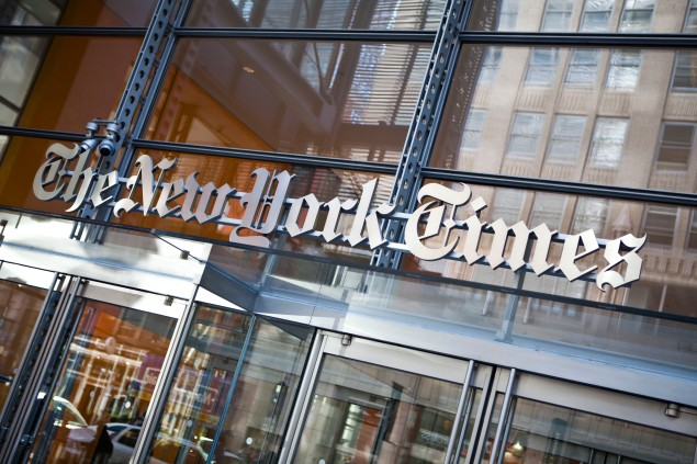 The New York Times building. (Photo: Getty Images)