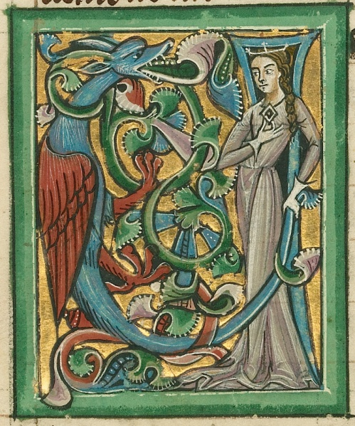 The Mother of Dragons, depicted by an unknown illuminator, about 1240 - 1250. (Photo: J. Paul Getty Museum)