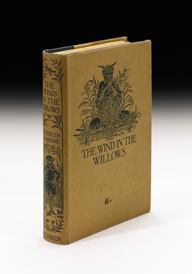 Lot 46 Grahame, Kenneth. The Wind In The Willows. Methuen And Co., 1908 8vo (189 x 123mm.) Estimate £ 50,000-60,000. (Photo courtesy of Sotheby's London)