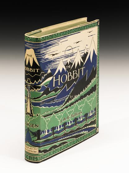 """Lot 164 Tolkien, J.R.R. The Hobbit. London: George Allen & Unwin LTD, 1937 8vo (190 x 130mm.), Presentation Copy Inscribed By The Author (""""K.M. Kilbride 