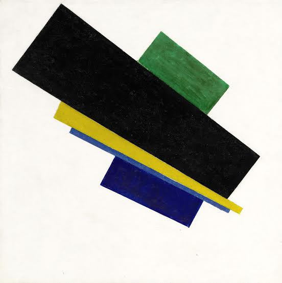 Suprematism, 18th Construction (1915) by Kazimir Malevich. Oil on canvas, 53 by 53 cm. Estimate $30-45 million USD. (Photo courtesy of
