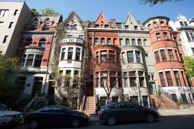 Brownstones lining West 81st Street.