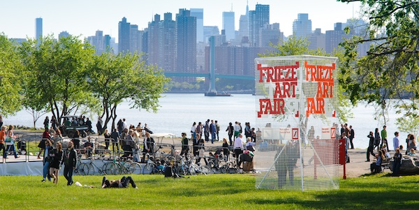 Visitors to Frieze New York on Randall's Island. (Photo: Frieze)