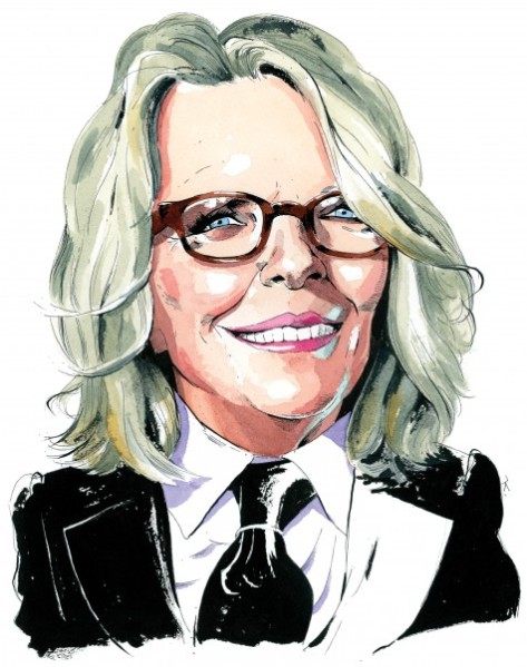 Diane Keaton, by Paul Kisselev.