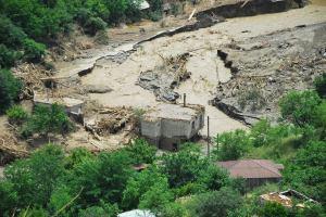 Flood damage in central Tbilisi. (Photo by Giorgi Jorjadze)