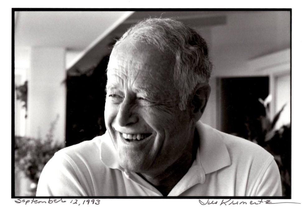 James Salter photographed by Jill Krementz on September 12, 1993, in East Hampton.