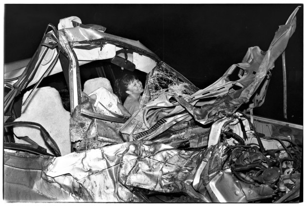 """Woman laughing after car wreck"" (Photo: © THE CITY by Andrew Savulich, published by Steidl www.steidl.de)"