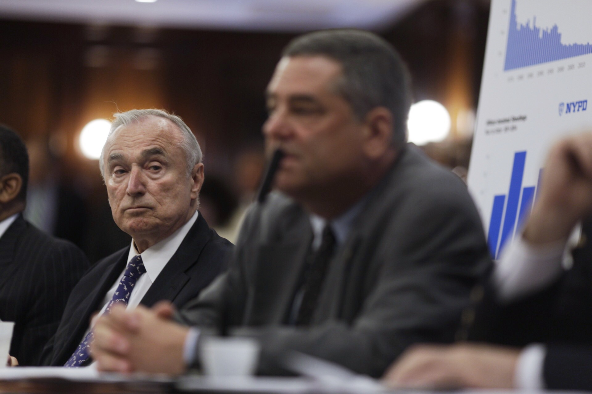 Police Commissioner Bill Bratton testifying to the City Council today. (Photo: William Alatriste/New York City Council)