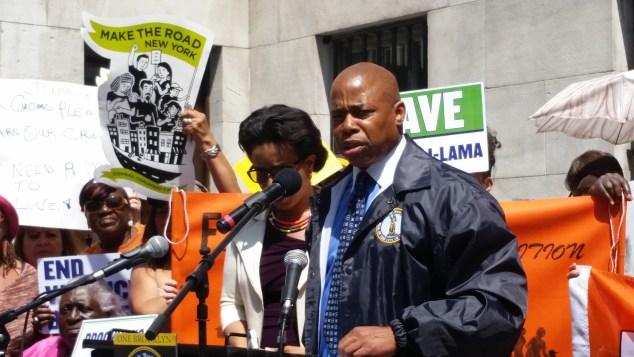 Brooklyn Borough President Eric Adams today. (Photo: Ross Barkan/New York Observer)