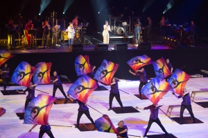 "Contemporary Color Conceived by David Byrne featuring Ventures & Nelly Furtado performing ""World Premiere"" (Photo by Julieta Cervantes)"