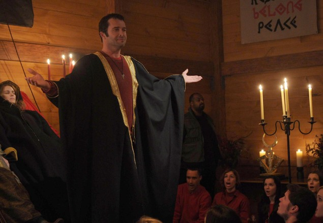 "THE FOLLOWING: Joe Carroll (James Purefoy, L) leads a cult in the ""Unmasked"" episode of THE FOLLOWING airing Monday, March 17 (9:00-10:00 PM ET/PT) on FOX. ©2014 Fox Broadcasting Co. CR: Sarah Shatz/FOX"