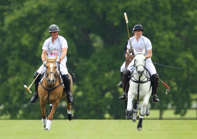 The two princes galloped alongside each other. (Photo: Getty)