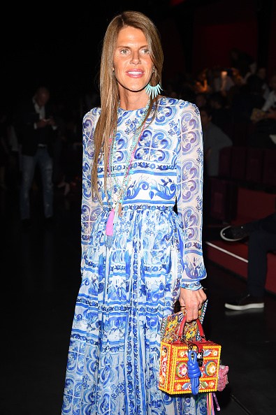 Anna Dello Russo attends the Dolce & Gabbana show during Milan Men's Fashion Week  (Photo by Jacopo Raule/Getty Images)