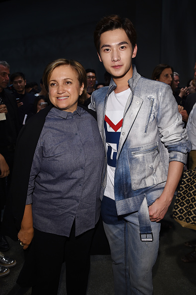 MILAN, ITALY - JUNE 22:  Silvia Fendi and Yang Yang attend the Fendi show during the Milan Men's Fashion Week Spring/Summer 2016 on June 22, 2015 in Milan, Italy.  (Photo by Venturelli/Getty Images for Fendi)