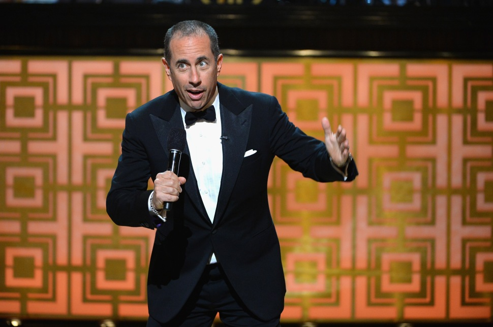 "NEW YORK, NY - MAY 06:  Comedian Jerry Seinfeld speaks onstage at Spike TV's ""Don Rickles: One Night Only"" on May 6, 2014 in New York City.  (Photo by Theo Wargo/Getty Images for Spike TV)"