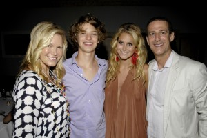 The Richards Clan--Avis, Dylan, Chloe and Bruce. (Patrick McMullan)