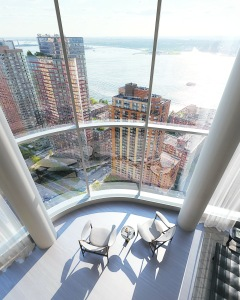 "A rendering view from 50 West, the ""game changer"" among developments in the Financial District. : Photo: DBOX"