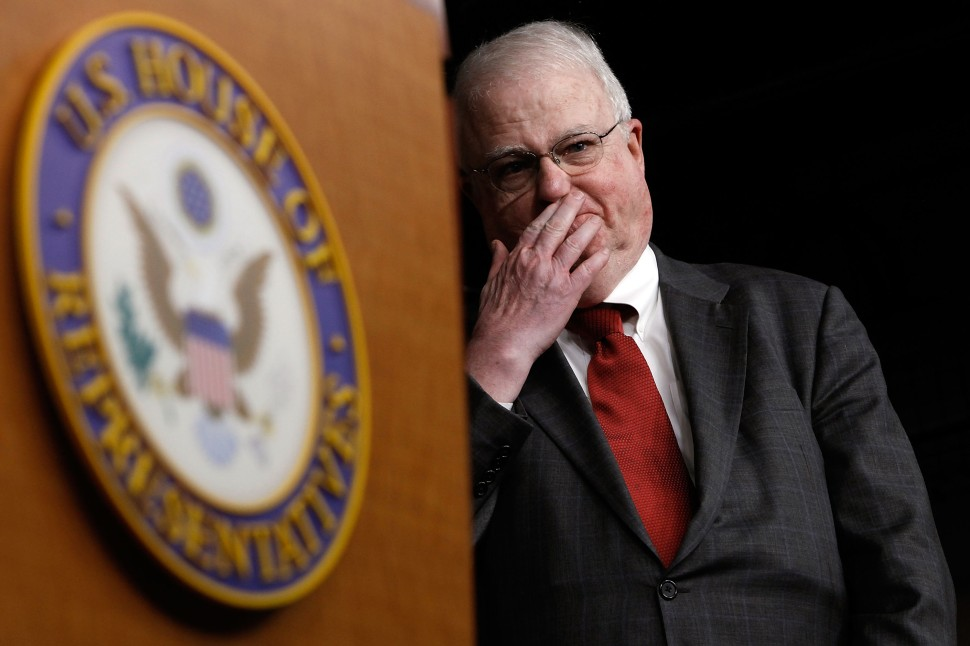 "WASHINGTON - DECEMBER 08:  Select Committee on Energy Independence and Global Warming ranking member Rep. James Sensenbrenner (R-WI) attends a news conference on ""energy, climate-gate and President Obama's trip to Copenhagen"" with members of the House Republican American Energy Solutions Group at the U.S. Capitol December 8, 2009 in Washington, DC. What some climate change critics are calling ""climate-gate,"" emails and other documents between scientists were hacked or stolen from a British climate-change research center.  (Photo by Chip Somodevilla/Getty Images)"