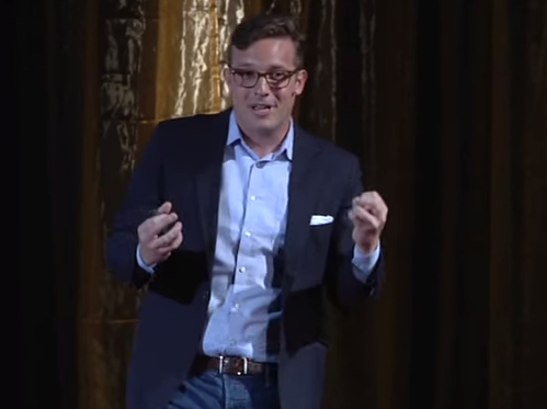 Benny Johnson gives a TED Talk at the university of Iowa in 2013. (Screenshot via YouTube)