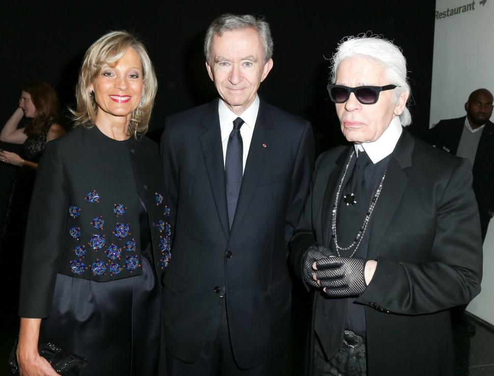 Helen Arnault, Bernard Arnault, Karl Lagerfeld (Photo: BFA).