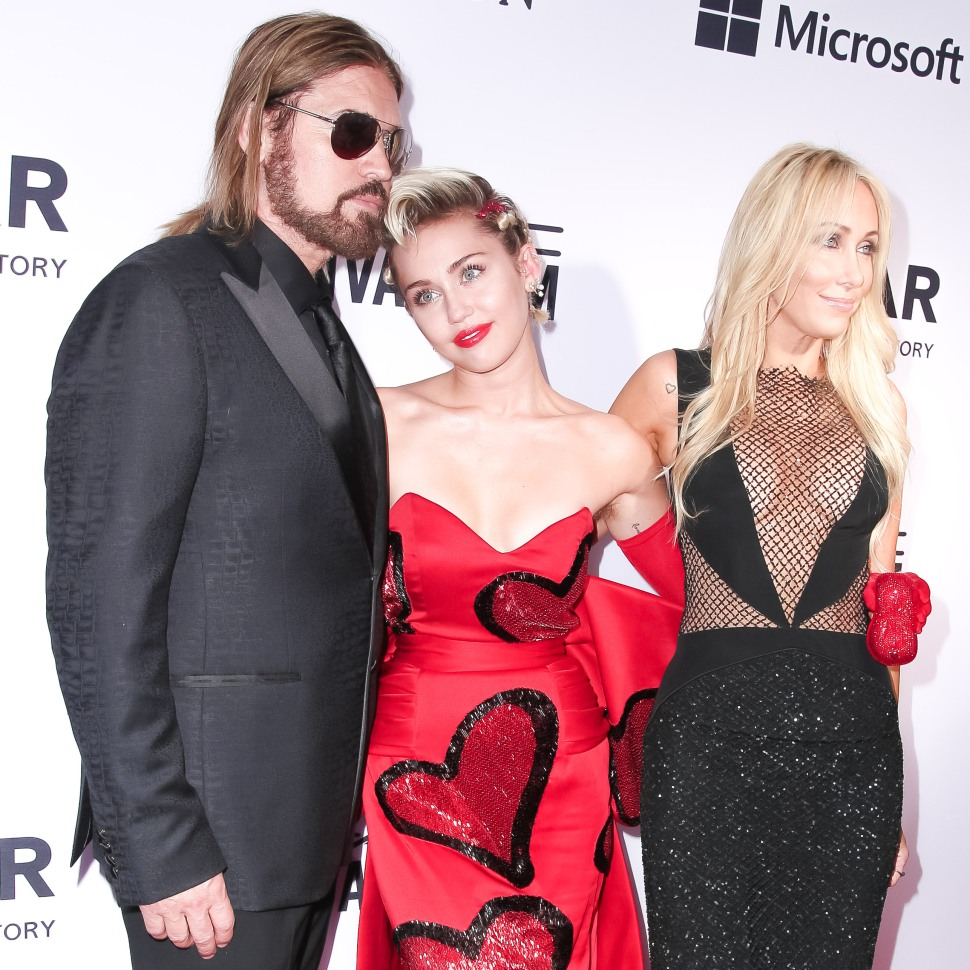 Billy Ray Cyrus, Miley Cyrus, Tish Cyrus (Photo: BFA).