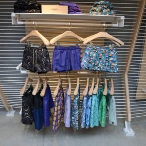 Glass swimwear clothing display