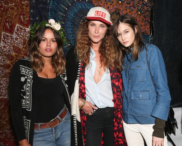 Atlanta de Cadanet Taylor, Erin Wasson, Laura Love, (Wearing Alice + Olivia)
