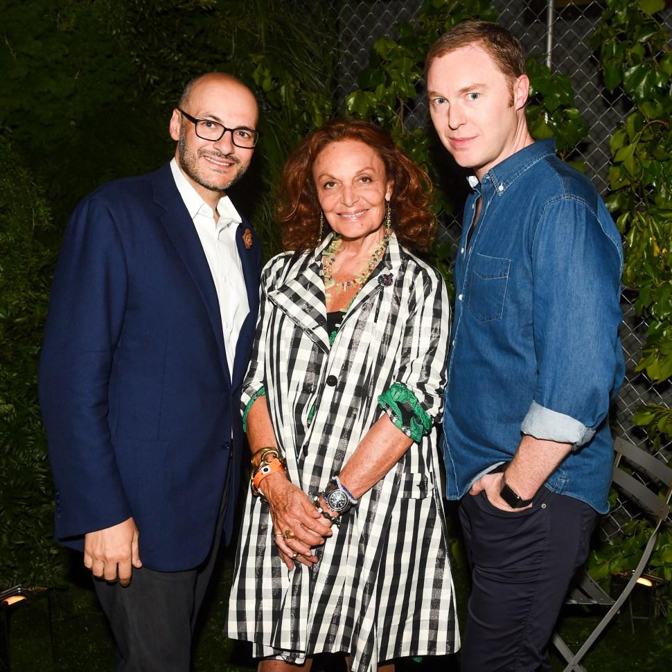 Victor Luis, Diane von Furstenberg, Stuart Vevers (Photo: BFA).