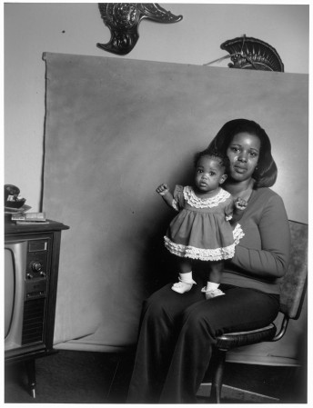 Black Mother with Baby Girl, San Pablo, California, 1979 by Leon Borensztein