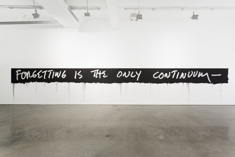 Mel Bochner, Forgetting Is The Only Continuum, 1969/2015. (Courtesy of the artist and Gladstone Gallery; Photo: David Regen)