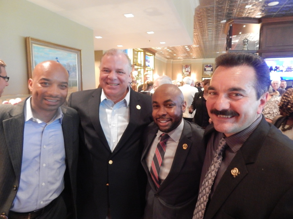 Prieto, far right, and Sweeney, second from left, in happier times.