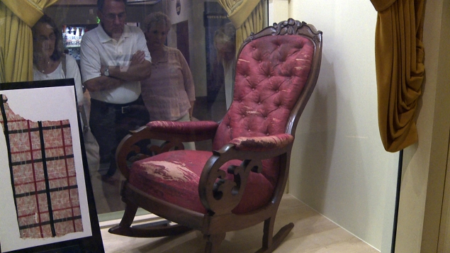 This is the real chair in the Henry Ford Museum in Dearborn, Michigan
