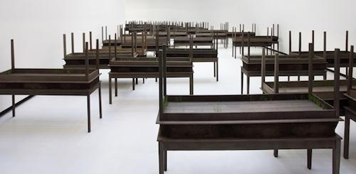 Doris Salcedo, Plegaria Muda (detail). (Photo: courtesy Alexander and Bonin, New York)