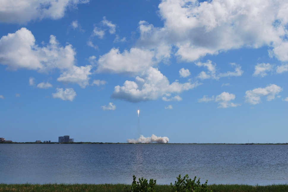 The launch of the rocket appeared to go off without a hitch.