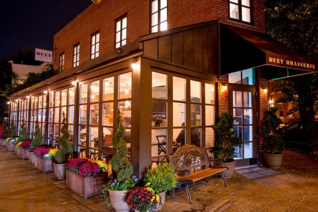 The exterior of the restaurant. (Photo: Duet Brasserie)
