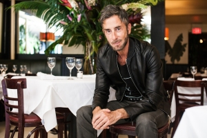 Mr. Houmard at Indochine. (Photo: Emily Assiran/New York Observer)