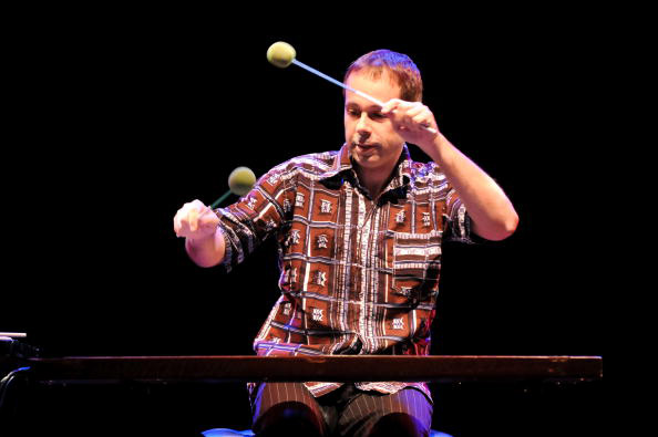 Lukas Ligeti performs on stage at the Purcell Room as part of the London Jazz Festival in 2009. (Photo: Getty Images)