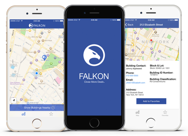 Different Falkon screens on an iPhone. (Photo: RE:Tech)