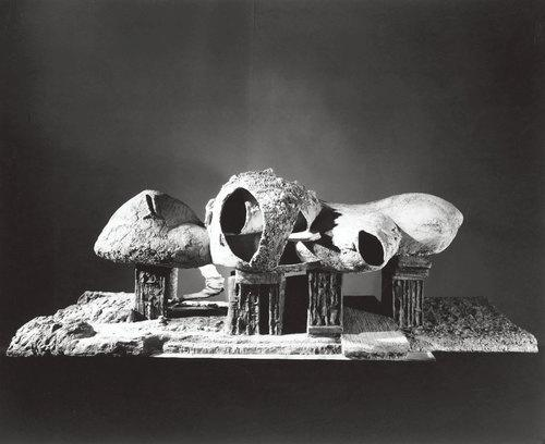 Frederick Kiesler, Endless House, model 1958. (Photo: Courtesy MoMA by George Barrows)