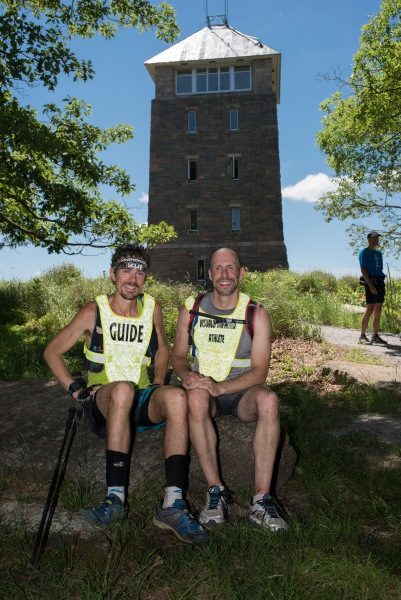 The pair atop Bear Mountain. (Photo courtesy of the runners)
