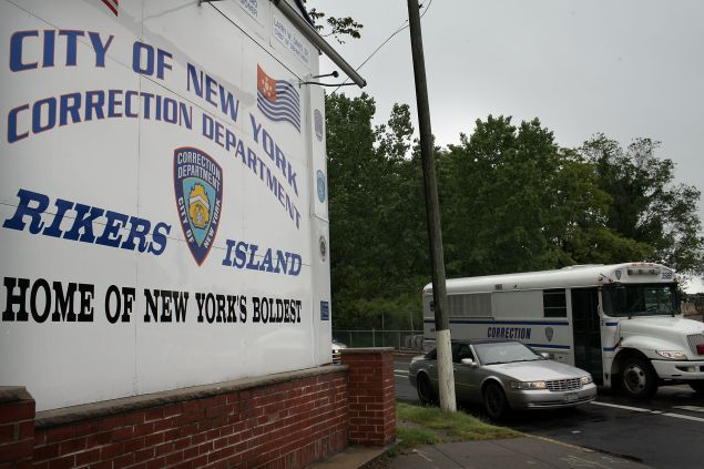 A view of the entrance to the Rikers Island prison complex (Photo: Spencer Platt for Getty Images)