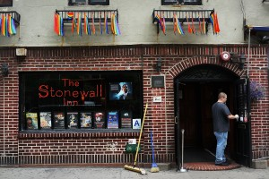 Stonewall Inn is amongst four LGBT sites that activists want landmarked by the city's Landmark Preservation Commission. (Spencer Platt/Getty)
